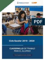 TERCER GRADO Cuadernillo Del Alumno 2019-2020