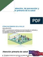 Niveles de Atención, De Prevención y Atención Primaria de La Salud
