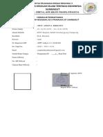Formulir Pendaftaran Kemreg Sd