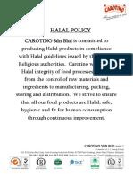Sample Halal Policy