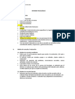 Modelo de Informe Psicologico 2019