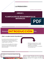 Unidad I Planificación de Requerimientos de Materiales