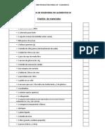 Checklist de Materiales