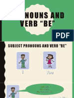 Pronouns and Be