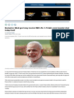 Exclusive_ Modi Govt May Receive RBI's Rs 1.76 Lakh