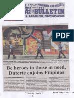 Manila Bulletin, Aug. 27, 2019, Be heroes to those in need Duterte enjoins Filipinos.pdf