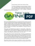 Case Study Garnier