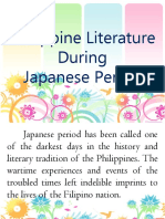 Philippine Literature During Japanese Period