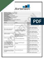 Mortenson Job Interview Questionnaire