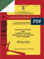 Catalogo Litoestratigrafico Batolito de Mande