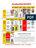 2019-20 Hebrew School Calendar