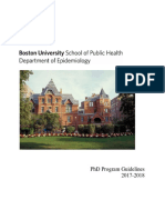 2017 2018 Epidemiology PhD Program Guidelines