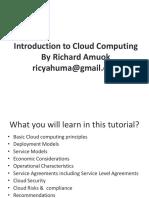 BIT 2.2 Introduction Cloud Computing Sreenath