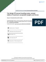 The Design of Manual Handling Tasks