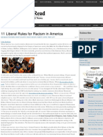 11 Liberal Rules for Racism in America