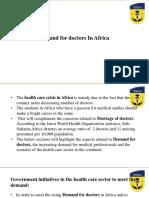 Demand for Doctors in Africa