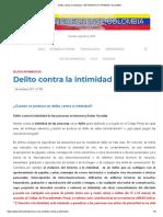 Delito Contra La Intimidad – Informática Forense Colombia