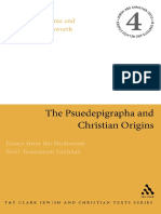 (Jewish and Christian Texts in Contexts and Related Studies) Gerbern S. Oegema, James H. Charlesworth - The Pseudepigrapha and Christian Origins_ Essays from the Studiorum Novi Testamenti Societas (Je.pdf