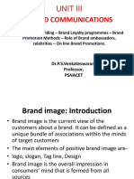 Unit 3- Brand Image Building – Brand Loyalty Programmes
