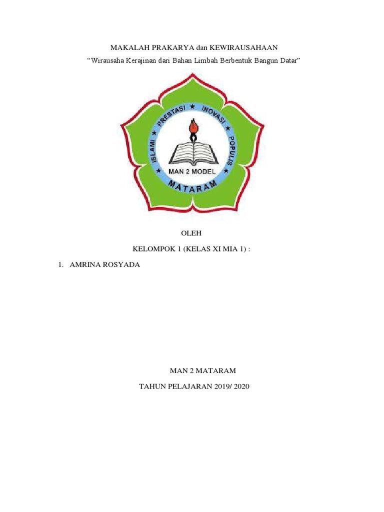 Makalah Prakarya Dan Kewirausahaan