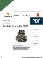Giubbetto Antiproiettile AP98 - Esercito Italiano