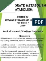 Carbohydrate Metabolism Catabolism Blok 7 2018