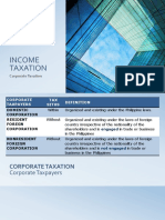 TAX Corporate Taxation
