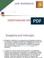 Comp+Arch+Wk+6 Interrupts+++FP+Pipeline Aut09