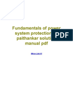 Fundamentals of Power System Protection by Paithankar Solution Manual PDF