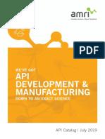 AMRI API ProductCatalog Web