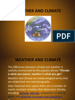 2. Weather and Climate - Elements of Climate
