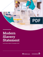 AstraZeneca - Modern Slavery Statement for the Year Ended 31 December 2018