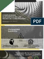 complejidad sustantiva en las redes de gobernanza