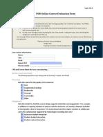Interactive Course Evaluation Form