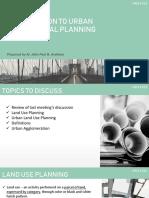 Planning 3 Urban and Regional Planning