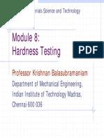 Module 8 Hardness Testing