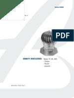 PennBarry Gravity Ventilator Catalog GRV