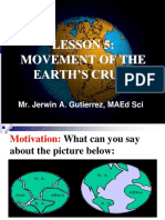 5. Movement of the Earths Crust Continental Drift Theory