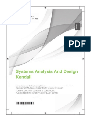 Systems Analysis And Design Kendall Books System Free 30 Day Trial Scribd