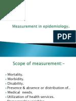 Mesurement Epidemiology 2