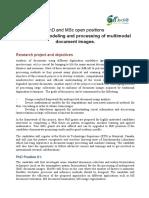 Phd Msc Positions Synchromedia 2019