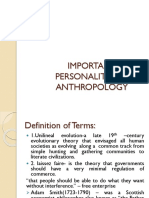 D-important Personalities in Anthropologydiss
