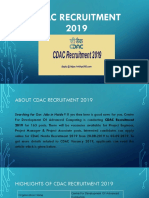 CDAC Recruitment 2019 Apply For 163 Project Engineer & Other Jobs