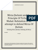 Mirza Jhelumi aand the Principle of Taliq Bil Muhal
