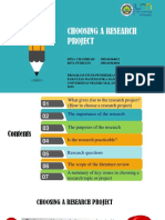 Choosing a Research Project Presentation
