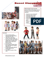 Picturebased Discussions Elementary Clothing