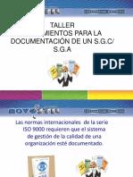 Taller Lineamientos Para La Documentacion de Un S G C