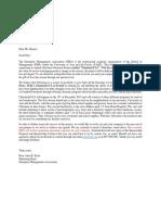 Informative Letter