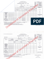 Specimen Progress Report Class IX-XII