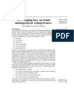 Developing Key Account Management Competences